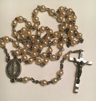 ✞ Our Lady Of Guadalupe Catholic Rosary Pearl Like Beads K Of C Italy ✞