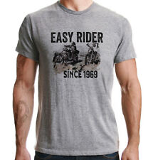 Easy Rider Since 1969 Motorcycle Classic Vintage Biker Distressed Grey T-Shirt