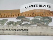 "Green,Blue Kyanite 3 natural blade w/some blue-green-grey 1/2"" - 1"" per price"