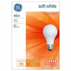 GE 13257 40 WATT SOFT WHITE LIGHT BULBS 12 Pack