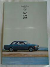 Mercedes 200, 230, 250 brochure Jul 1978
