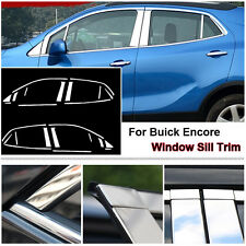 Full Window Middle Pillar Molding Sill Trim Stainless Steel For Buick Encore