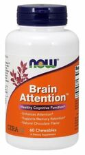 Now Foods BRAIN ATTENTION for Healthy Cognition 60 Chews MEMORY, FOCUS SUPPORT