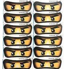 12X Medium Ninjago Eyes Sticker. Party Supplies Lolly Bag Balloon Room Deco