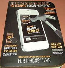 ARMORTECH transparent tempered glass screen protector for iPhone 4/4s