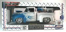 M2- (2) GROUND POUNDERS 1.24th& 1.64th 1956 FORD F-100 PICKUP WHITE/ BLUE FLAMES