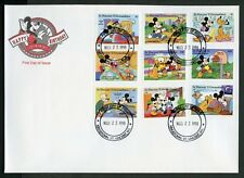 ST. VINCENT GRENADINES  DISNEY MICKEY'S BIRTHDAY  1997  SET   FIRST DAY COVER