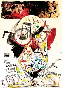 RALPH STEADMAN - SELF-POORTRAIT POSTER - 24x36 MODERN ART 11305