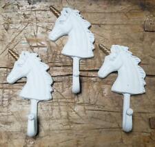 3 Cast Iron Unicorn Towel Hanger Coat Hat Hooks Key Rack Hook Mythological