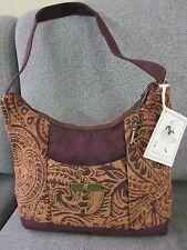 Isabella's Journey- ARABESQUE- Rust w Brown Handbag Chenille Suede Trim new wtag