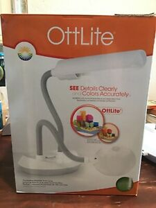 Ottlite 13w DuoFlex Magnifer Desk Lamp - White (Model 929WG3)