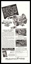 1935 MARHOFF Super No 1975 Criterion 1960 Antique Fishing Reel Shakespeare AD