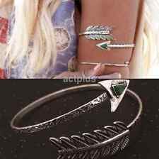 Arrow Antique Silver Harness Slave Chain Upper Armband Cuff Armlet Bracelet US