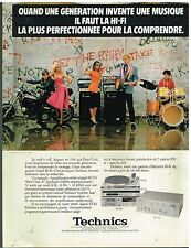 Publicité Advertising 1980 La Chaine Hi-Fi Technics