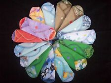 Set of 9 MamaBear LadyWear Quick-Dry cloth menstrual pads: Heavy, Medium & Light