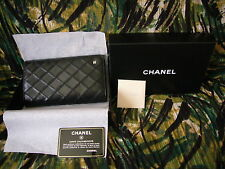 Chanel Wallet Black Quilted New in box