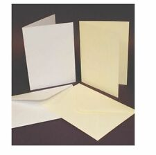 50 C6 taille Blanc cartes vierges 250gsm & Enveloppes 120 g/m² FABRICATION