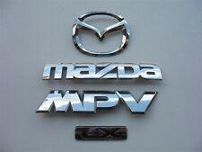 2001 MAZDA MPV LX REAR EMBLEM LOGO BADGE SIGN SYMBOL SET 00 01 02 03 04 05 06