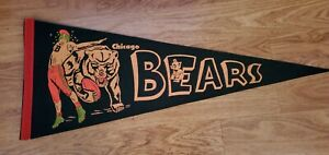 Chicago Bears 1950s Full Size Football Pennant- Very Clean