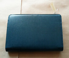 NWT ACCESSORIZE Dark Emerald Green Leather?  WALLET Clutch COIN PURSE Wide, Flat