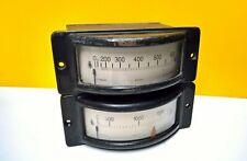 Dreheisen querskala 2500A 600V Amperemeter Voltmeter Retro Steampunk