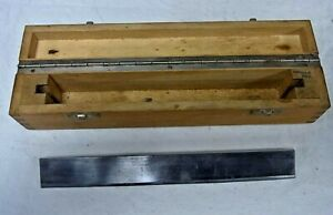 Vintage Steel Microtome Blade 24cms Protective Wood Box Jung Heidelberg Germany