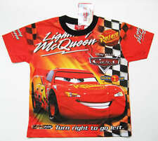 TRES JOLI TEE-SHIRT DISNEY CARS MCQUEEN 7-8 ans (L) QUALITE imprimé 2 faces