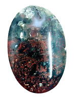46.6ct Natural Fine Moss Agate Oval Cabochon Landscape Agate Untreated Unheated