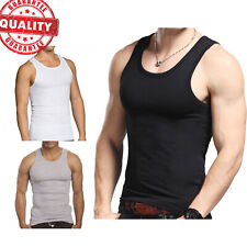 3 to 12 Packs Mens 100% Cotton Tank Top A-Shirt Wife Beater Undershirt Lot