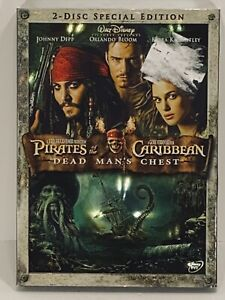 PIRATES OF THE CARIBBEAN, DEAD MANS CHEST, DISNEY, W/ SLEEVE + EXTRAS,DVD SEALED