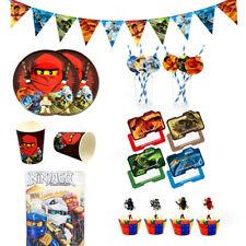 74pcs Kai Jay Ninjago Ninja Theme Party Supplies Set for 12 Kids Boys Girls