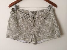 Madewell J.Crew Green White Denim Jeans Shorts 01593 - size 27 $59 EUC FAST SHIP