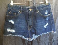 BDG Sz 29 High Rise Cheeky Dark Denied Jean Shorts