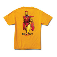 Primitive Skateboard Tee Shirt Moebius Marvel Iron Man Gold