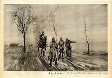 Prof. Max Rabes, Berlin Der Spion Soldaten nach einer Kriegszeichnung v. 1914/15