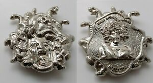 Medusa Silver Coin Greek Legend Girl Snake Monster Curse Turn to Stone Scary USA