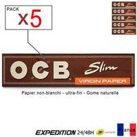 Feuille rouller OCB SLIM 32 feuilles papier cigarette tabac - PACK de 5
