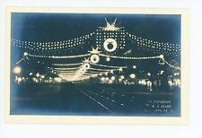"Christmas Lights RPPC ""Almas"" Antique Photo RE Clark—702 17th St NW 1910s"