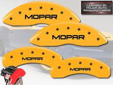 "2008-2012 Jeep Liberty Front + Rear Yellow MGP Brake Disc Caliper Covers ""Mopar"""