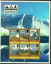 YEAR OF MOUNTAINS MT. COOK NZ MT. BLANC TURKS & CAICOS MINT (MNH) SOUVENIR SHEET
