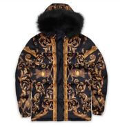 Reason Brand Floral & Chains Puffer (LARGE)
