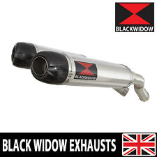 Aprilia Rs4 125 Exhaust System 300mm Oval Stainless Carbon Tip Silencer 300st