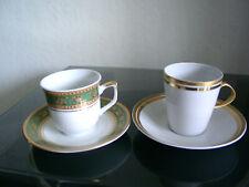 Mokkatassen Mocca-Tassen Porzellan Goldrand gemarkt Markenporzellan Kaffee-Tafel