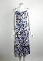 Free People Beach Party Midi Dress Floral Print Ruffle Trim Neck Neck XS New