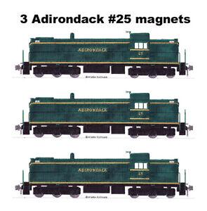 Adirondack Railroad RSC2 #25 3 magnets Andy Fletcher