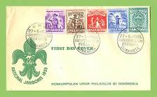 Indonesia 1955 Scouts National Jamboree set on First Day Cover