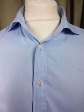 "T M Lewin Finest Two-Fold Cotton Luxury Slim Fit Shirt 17"" C46"" EXCELLENT COND"