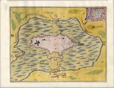 Ratzeburg-altkolorierter Kupferstich-Plan Nicolas de Fer 1693