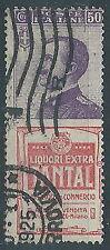 1924-25 REGNO USATO PUBBLICITARI TANTAL 50 CENT - ED921R