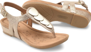 Comfortiva Summit Gold Thong Wedge Sandal Women's sizes 6-10/NEW!!